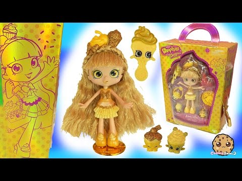 Limited Edition Shopkins Shoppies Gold Jessicake SDCC 2016 Golden Doll with Exclusives