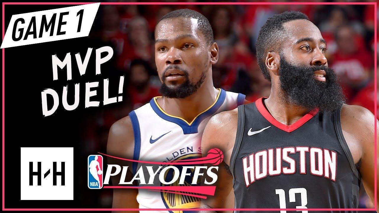 90e82135b141 Kevin Durant vs James Harden Game 1 WCF Duel Highlights (2018 Playoffs) Rockets  vs Warriors - CRAZY