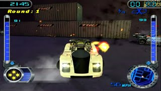 Hot Wheels Velocity X: Maximum Justice (PS2) - Warehouse District Battle