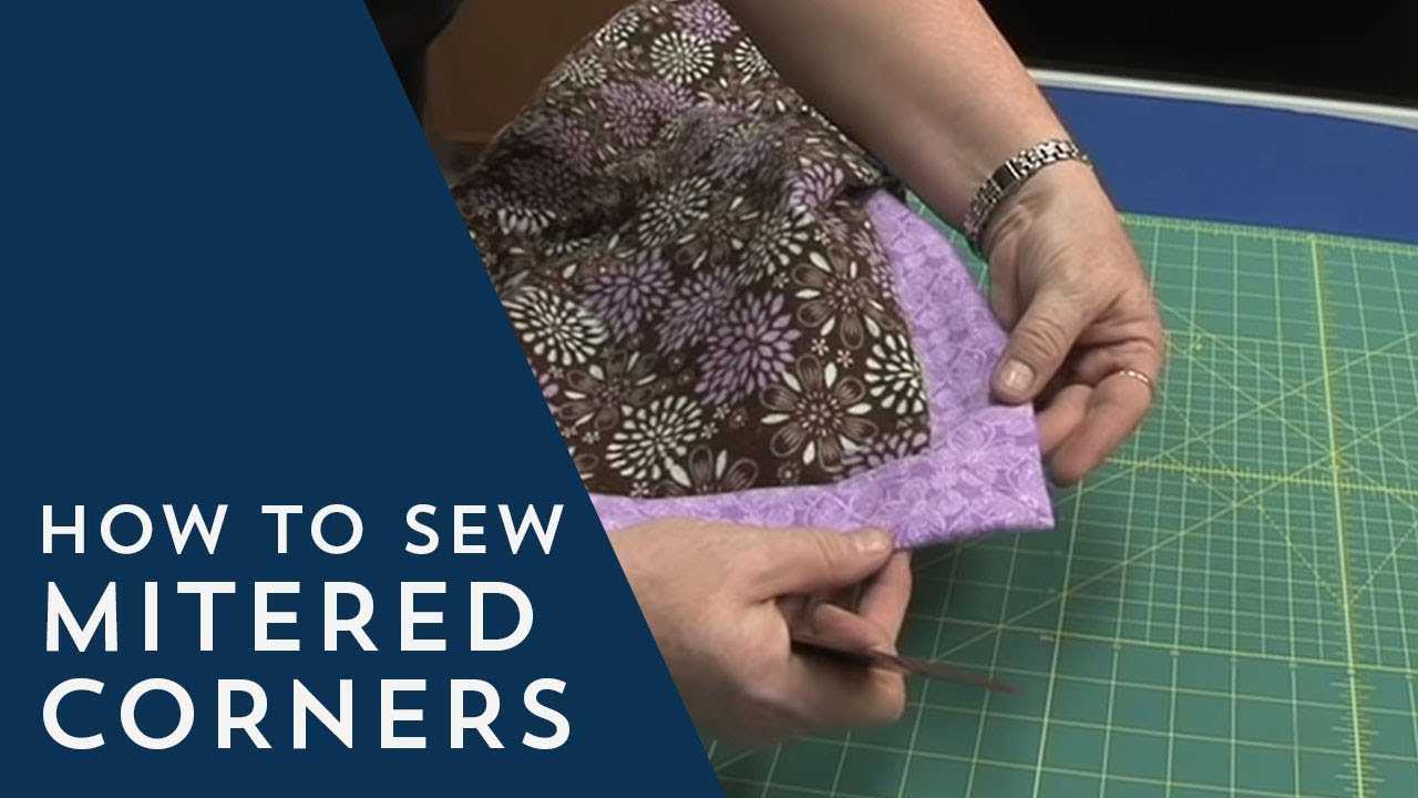 How to Sew Mitered Corners - YouTube : mitered corners on quilts - Adamdwight.com