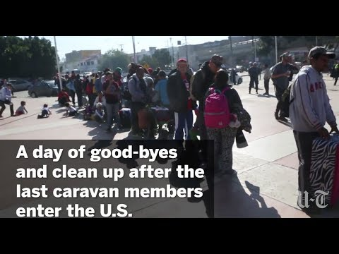 Last Caravan Members Enter U.S. | San Diego Union-Tribune