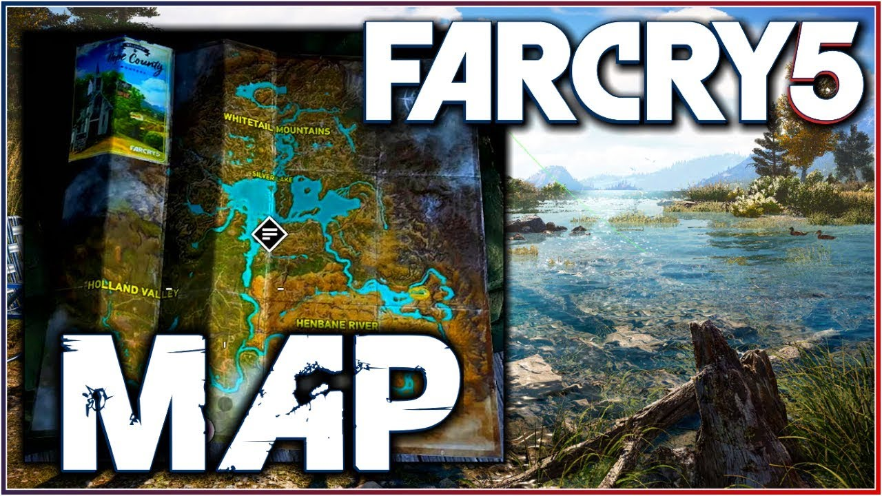 Far Cry 5 3d Map Map Size Points Of Interest More Youtube