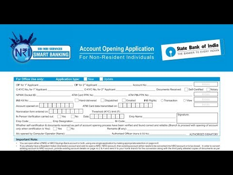 sb a c opening form sbi
