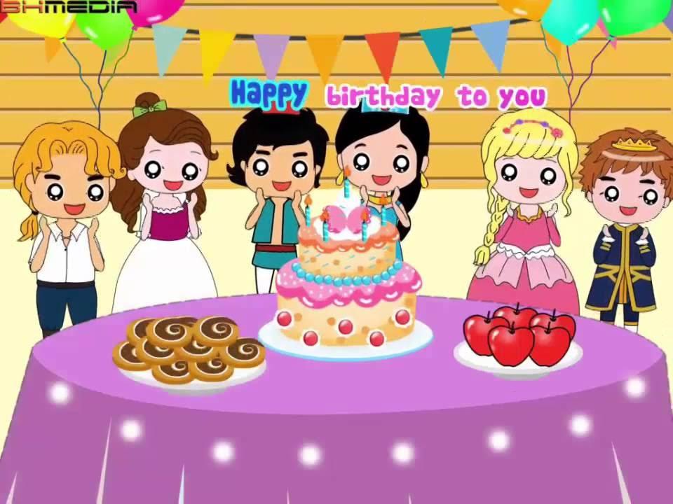 生日快乐歌 | Happy Birthday To You | Nursery Rhymes | Happy Birthday Song