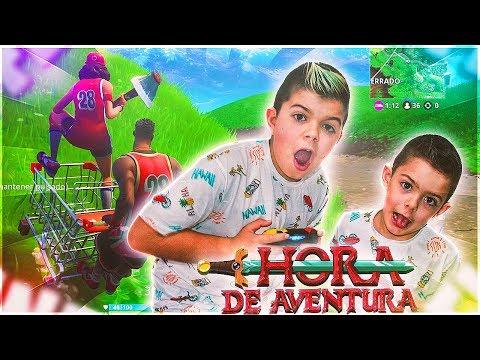 TROLLEO A ARES CON EL CARRITO DE LA COMPRA EN FORTNITE/ Hora de aventuras #1 PS4