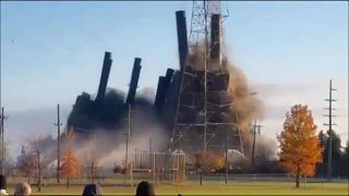 Marysville, Michigan DTE Power Plant Implosion! (Nov. 7th, 2015)