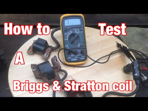 How To Test a Briggs And Stratton Lawnmower Coil Using a Multimeter  #smallenginenation