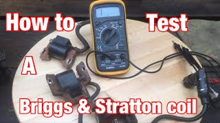 multimeter #roystheboy #briggsandstratton This videoi show you how to test brigg and stratton coils using a multi meter Email: roystheboy2@gmail.com Twitter: ...