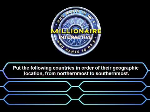 classic millionaire interactive - fastest finger question - youtube, Powerpoint templates