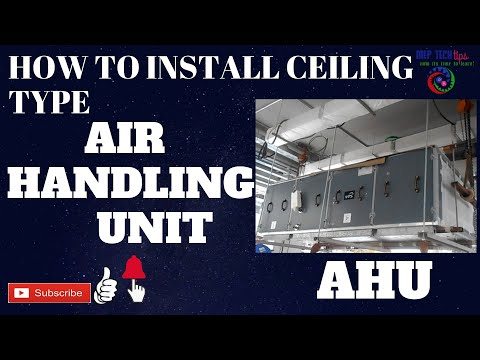 Air Handling Unit Installation   How To Install AHU In HVAC System   Hanging Type   By MEP Tech Tips