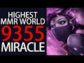 Highest MMR on the Planet - Miracle Dota 2 Ranked Gameplay 7.02 META TA
