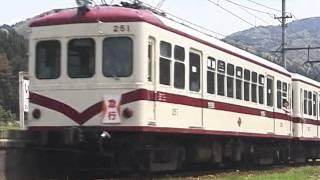 京福電鉄永平寺線 市野々 モハ251形イベント急行通過