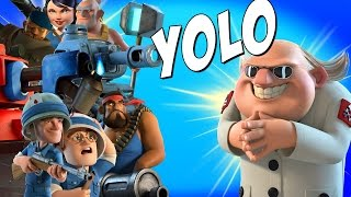 Boom Beach New YOLO vs DR TERROR!