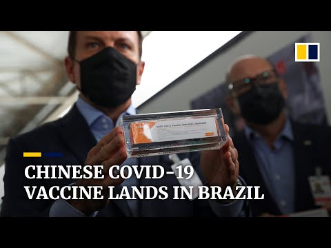 First doses of China's CoronaVac Covid-19 vaccine land in Brazil