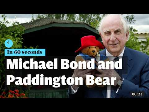 Michael Bond and Paddington Bear  in 60 seconds