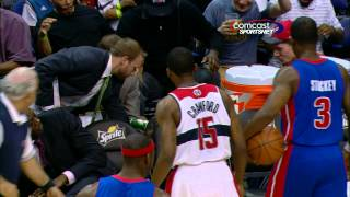 Brandon Knight takes a Gatorade bath!