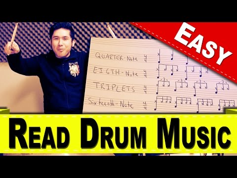 How To Read Drum Music | How To Read Music | How To Play Drums | SuperEpicAwesome