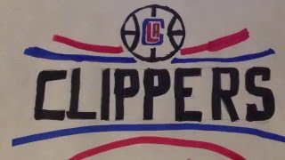 How to draw the LA Clippers logo