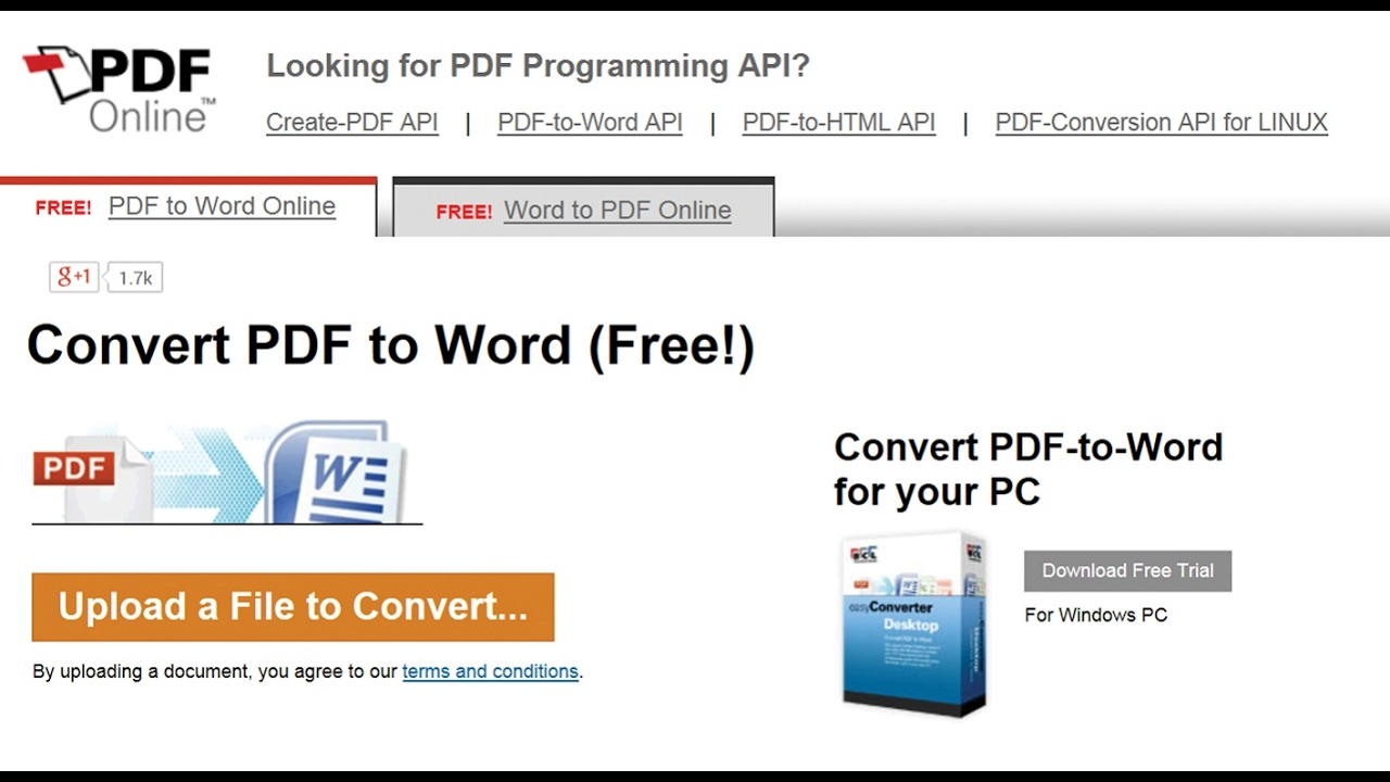 How To Convert Pdf To Word Without Software Using Pdf Online Youtube
