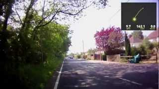 Cycling in Sindlesham Berkshire England Contour GPS and Storyteller upload