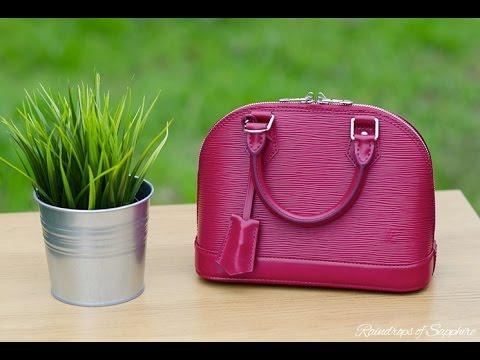 0d427d430576 Louis Vuitton Alma BB Fuchsia Epi Leather Bag Review Reveal - YouTube