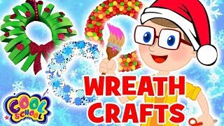 DIY CHRISTMAS WREATHS. Christmas Crafts Crafty Carol Crafts for Kids DIY Crafts for Kids