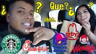 Speaking ONLY SPANISH at drive thru!