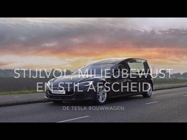 Eerste Tesla rouwauto wereldprimeur in Nederland