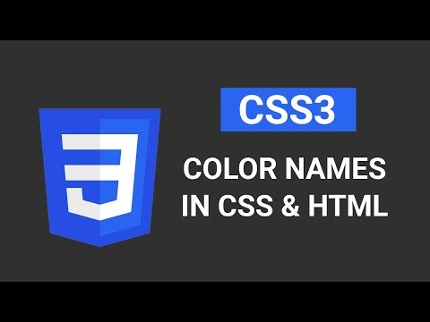 Color Names | Introduction to CSS | Tutorial #6 Part 1/2 thumbnail