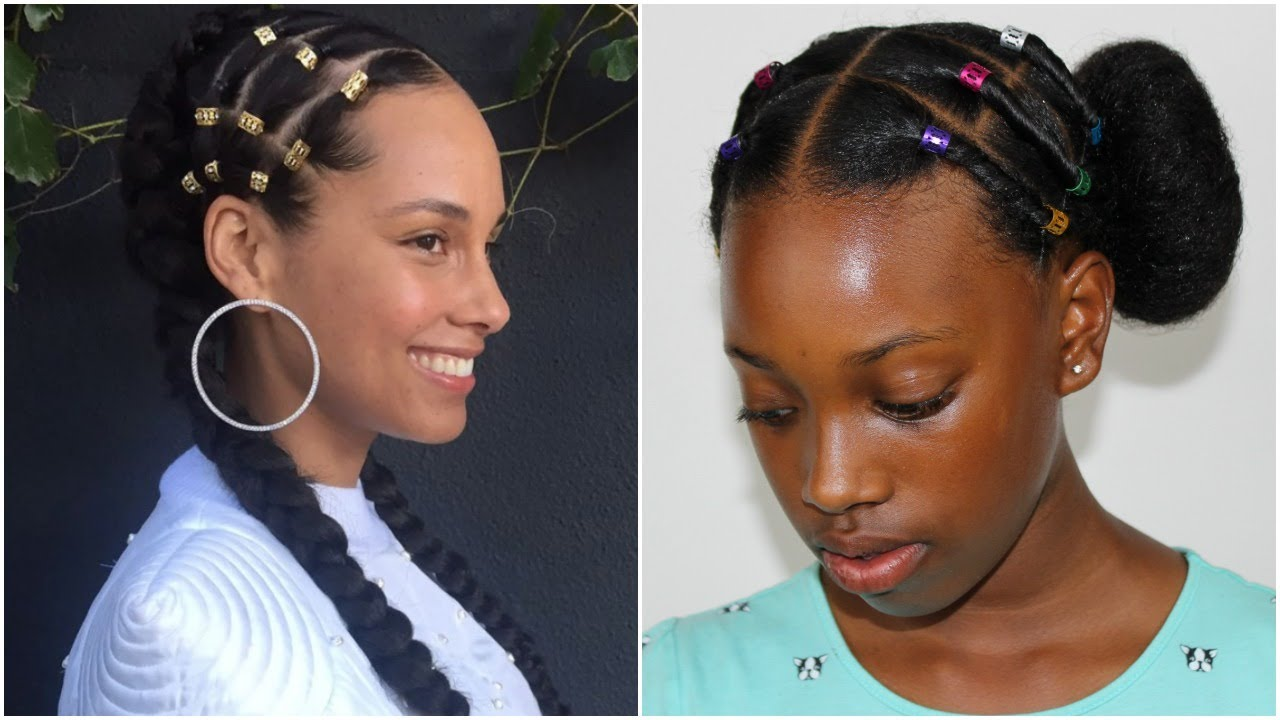 alicia keys inspired hairstyle | easy protective hairstyle