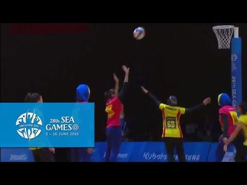 Netball Semi-final highlight: Malaysia vs Brunei | 28th SEA Games Singapore 2015