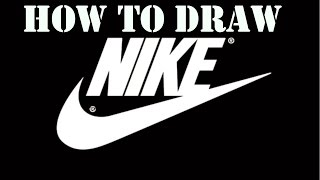 How to draw the nike logo!