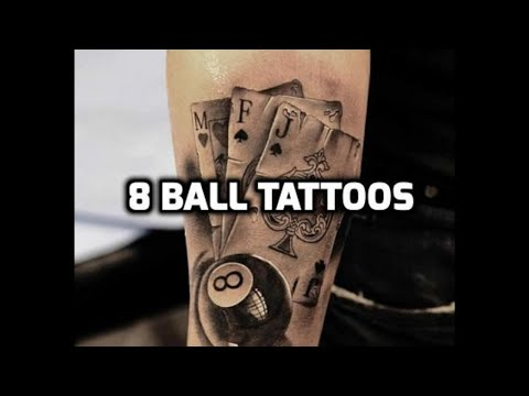 8 Ball Tattoos - Best eight ball tattoo designs ideas