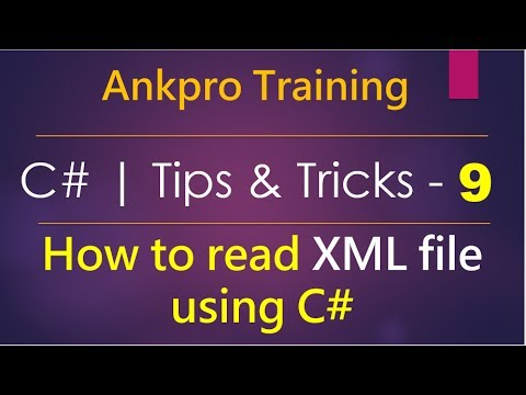 C# tips and tricks 9 - How to read XML file using C# | Xml Document | Xml  Text Reader | System Xml