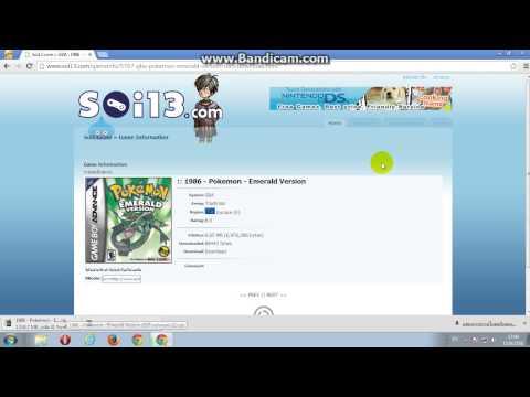 วิธีการดาวน์โหลด GBA & Pokemon Emerald