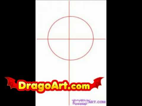 how to draw a cross step by step