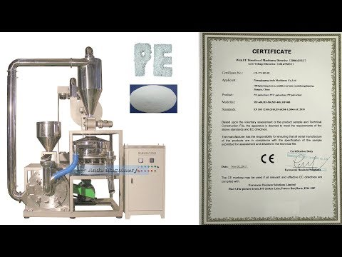 plastic low density polyethylene LDPE pulverizer machine with CE certificate