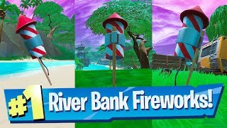 Launch Fireworks found along the River Bank - Fortnite 14 Days Of Summer Challenge