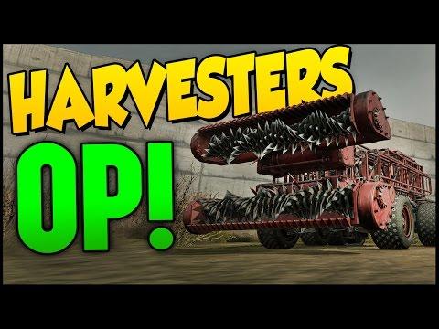 Crossout ➤ Dual Harvesters Build - OP MELEE! [Crossout Gameplay]
