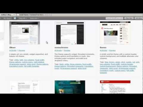 WordPress 3 Tutorial 11: Choosing WordPress Themes