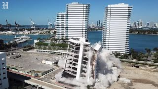 South Shore Hospital in Miami Beach imploded