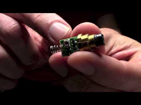 Adjusting output power of a green laser