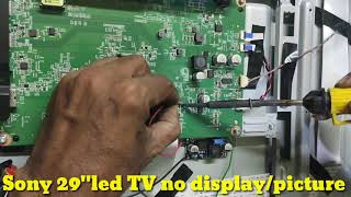 SONY 29inch LED TV NO DISPLAY SOUND amp BACK LIGHT OK SOLUTION