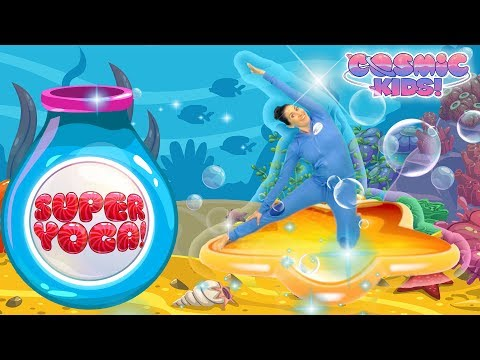 Cosmic Kids Yoga |  SUPER YOGA - Underwater Party! | Fun Games For Kids
