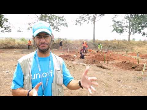 Water and Sanitation in the DRC refugee crisis in Lunda Norte | UNICEF Angola