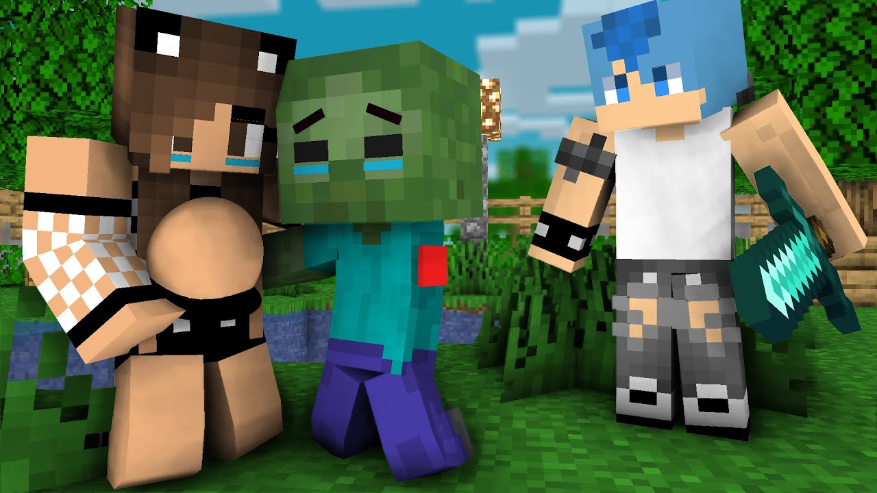 Monster school :The Young Hero Zombie : Zombie Sad Life - Minecraft Animation