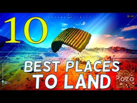 PLAYERUNKNOWN'S BATTLEGROUNDS TOP 10 BEST PLACES TO LAND in MIRAMAR - Battlegrounds High Weapon Loot
