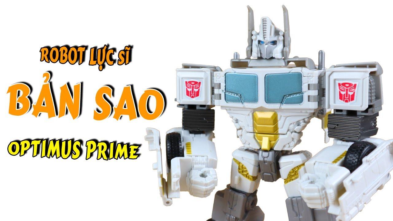 Robot Đồ Chơi Lực Sĩ Biến Hình Thành Xe Tải Giống Hệt Optimus Prime Trong Phim Transformers