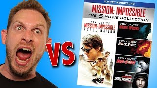 Mission: Impossible The 5 Movie Collection Blu-Ray Set Unboxing