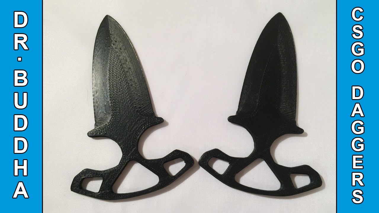 3D Printed Knife: Shadow Daggers from CS:GO - Push Daggers ...